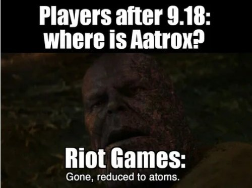 Aatrox reduced to atoms