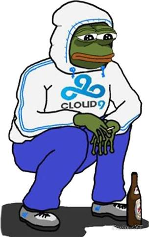 Cloud 9 Sad Pepe