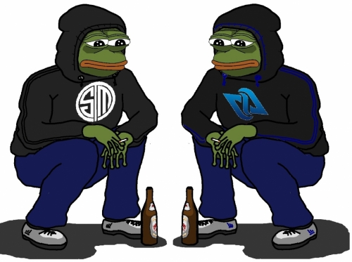 TSM and CLG sad Pepe